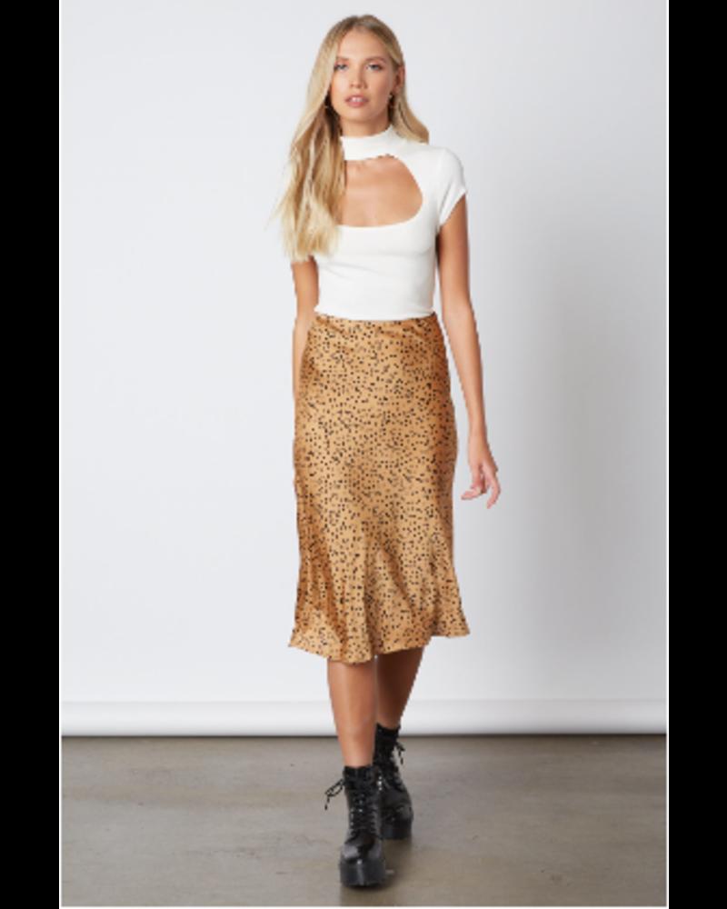Spotted Silk Skirt