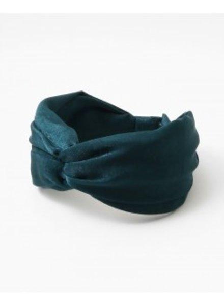 Mint + Major Emerald Silk Headband