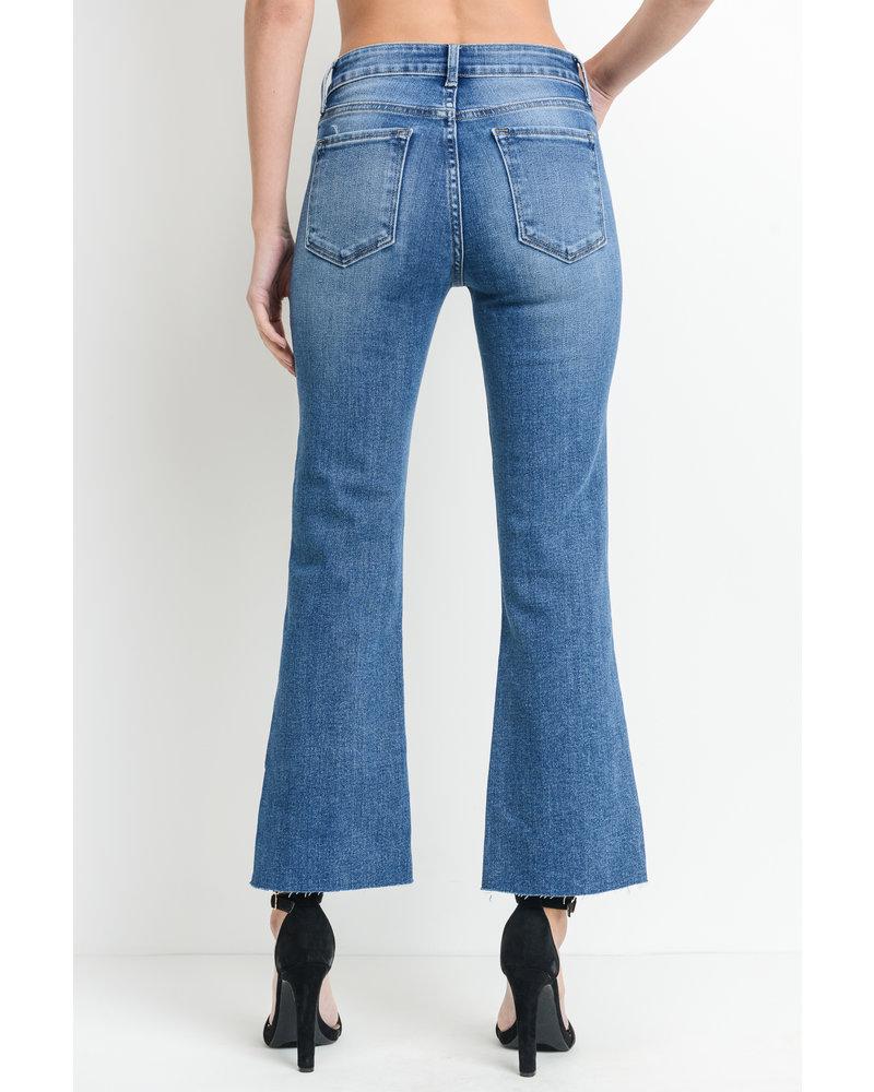 Scissor Crop Flare Jeans