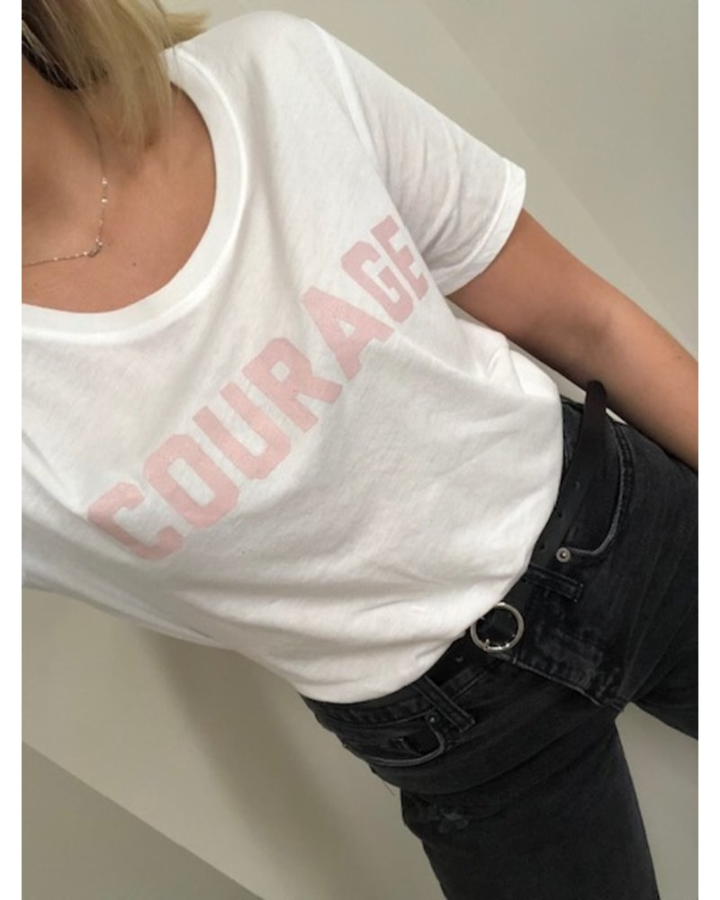 Social Sunday Courage Breast Cancer T-Shirt