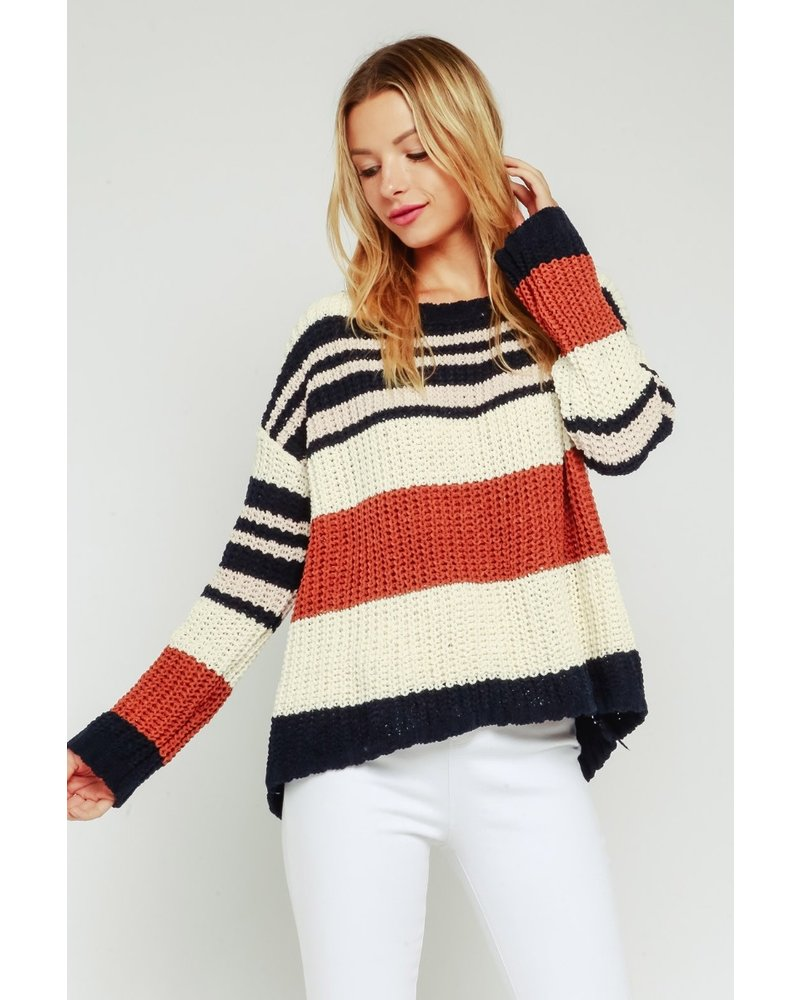 Color Block Pull Over