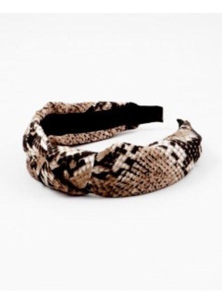 Mint + Major Brown Snake Skin Headband