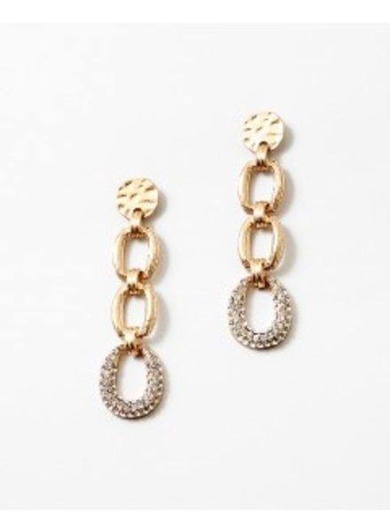 Mint + Major Gold Chain Stone Drop