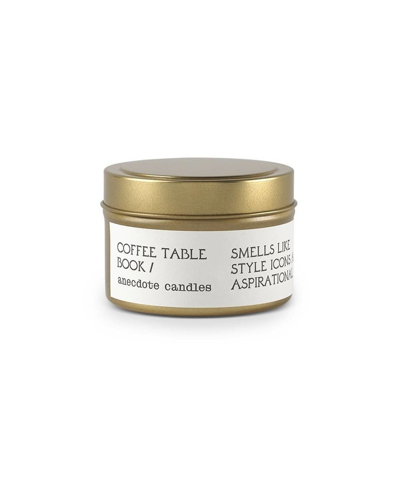Coffee Table Book Travel Tin- Vetiver & Citrus
