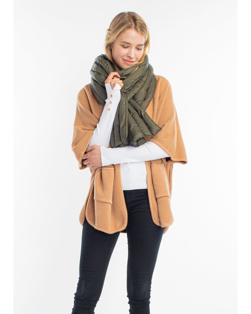 Mint + Major Puffer Scarf