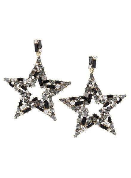 Mint + Major Beaded Star Earrings