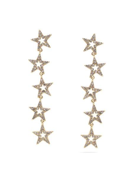 Mint + Major Star Rhinestone Drop Earrings