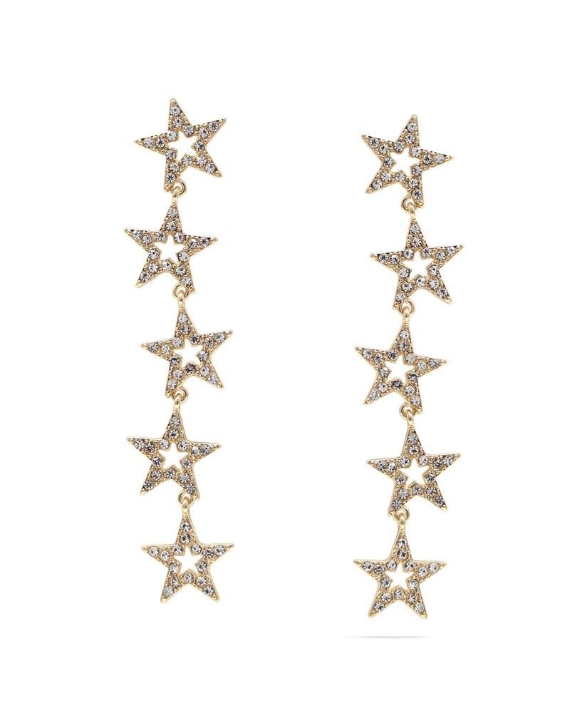 Mint + Major Star Rhinestone Drop Earrings