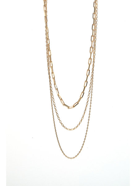 Mint + Major Three Layer Chain Necklace
