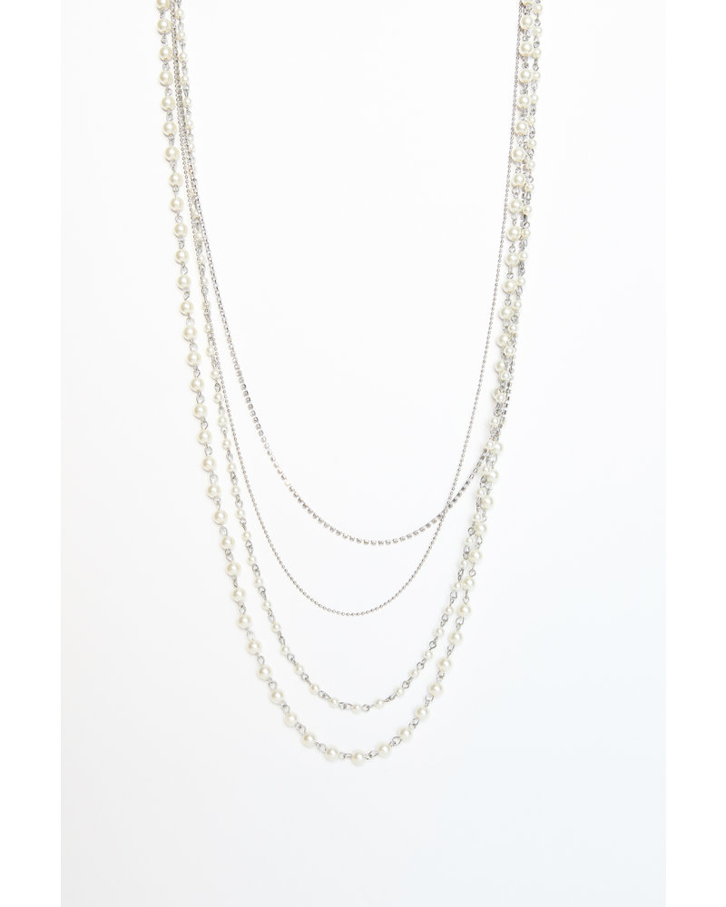 Mint + Major Silver Multi Pearl Necklace