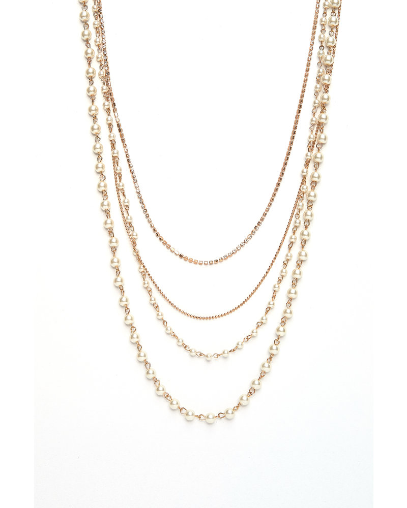 Mint + Major Gold Multi Pearl Necklace