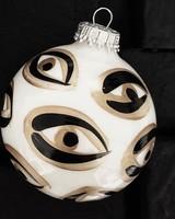 Meg Biram White Evil Eye Ornament