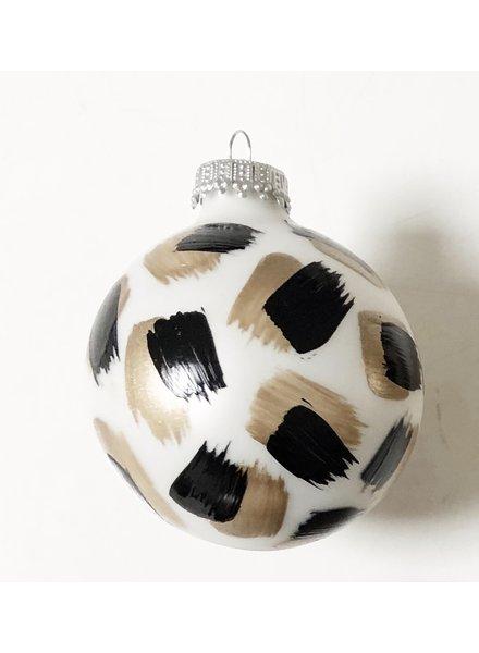 Meg Biram White Leopard Ornament