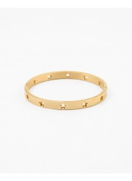 Mint + Major Cut Out Star Bangle