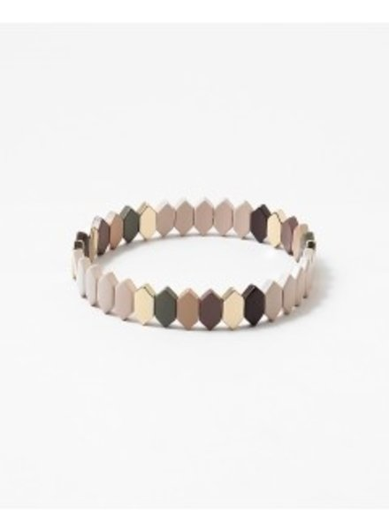 Mint + Major Neutral Mix Stretch Bracelet
