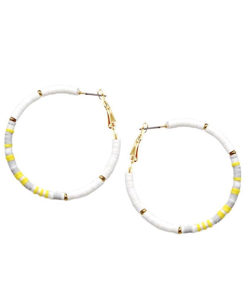 Mint + Major White Yellow  Rubber Hoop