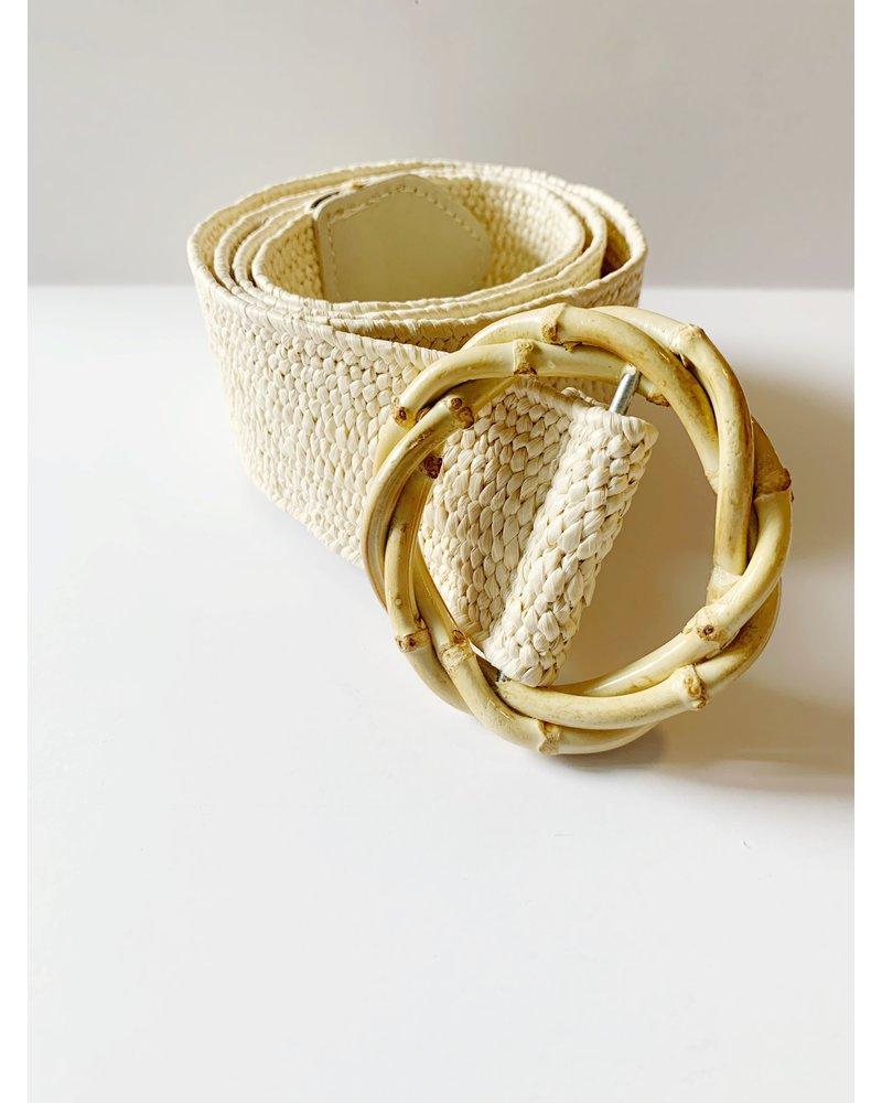 Mint + Major Wooden  Buckle Belt