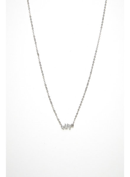 Mint + Major Silver Baguette Necklace
