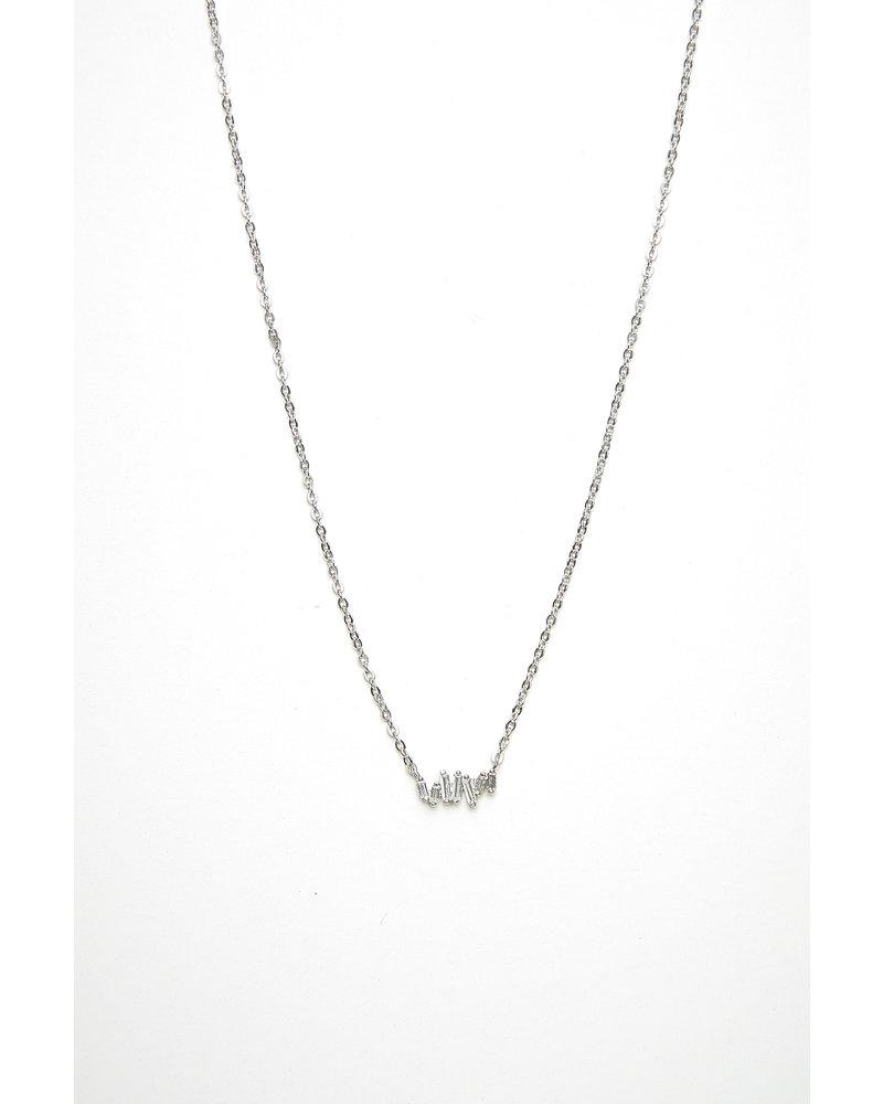 Mint + Major Silver Baguette Necklace