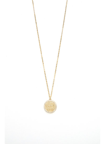 Mint + Major Star & Moon Coin Necklace