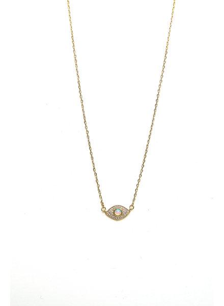 Mint + Major Opal Eye Necklace