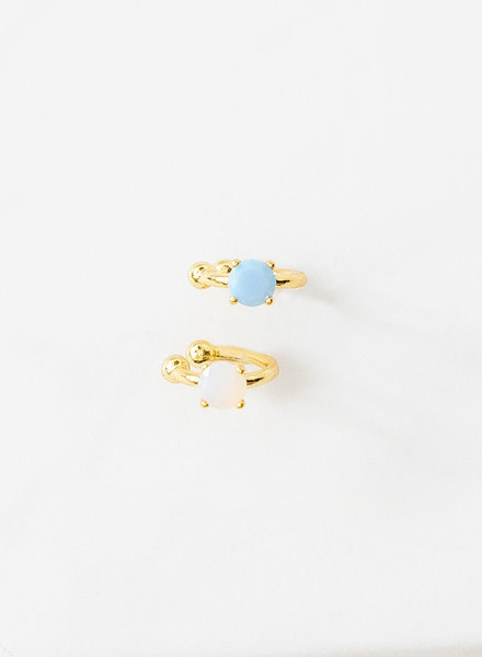 Mint + Major Single Stone Ear Cuff