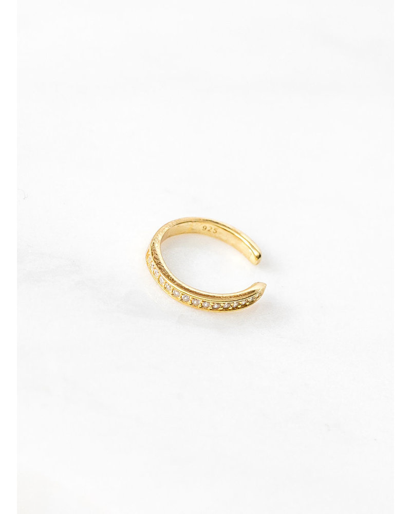 Mint + Major Gold Pave Stone Ear Cuff