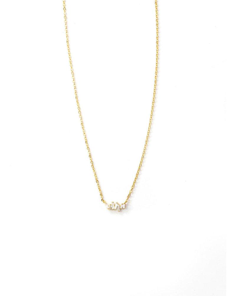 Mint + Major Gold Baguette Necklace