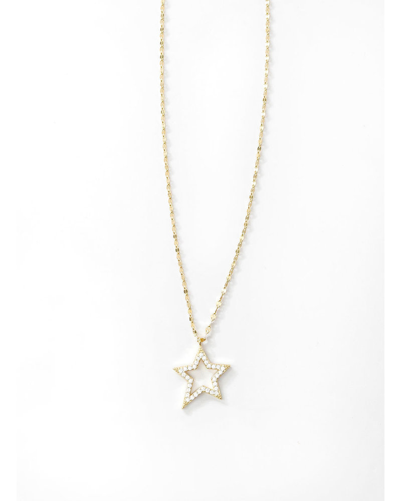 Mint + Major Pave Cut Out Star -GOLD