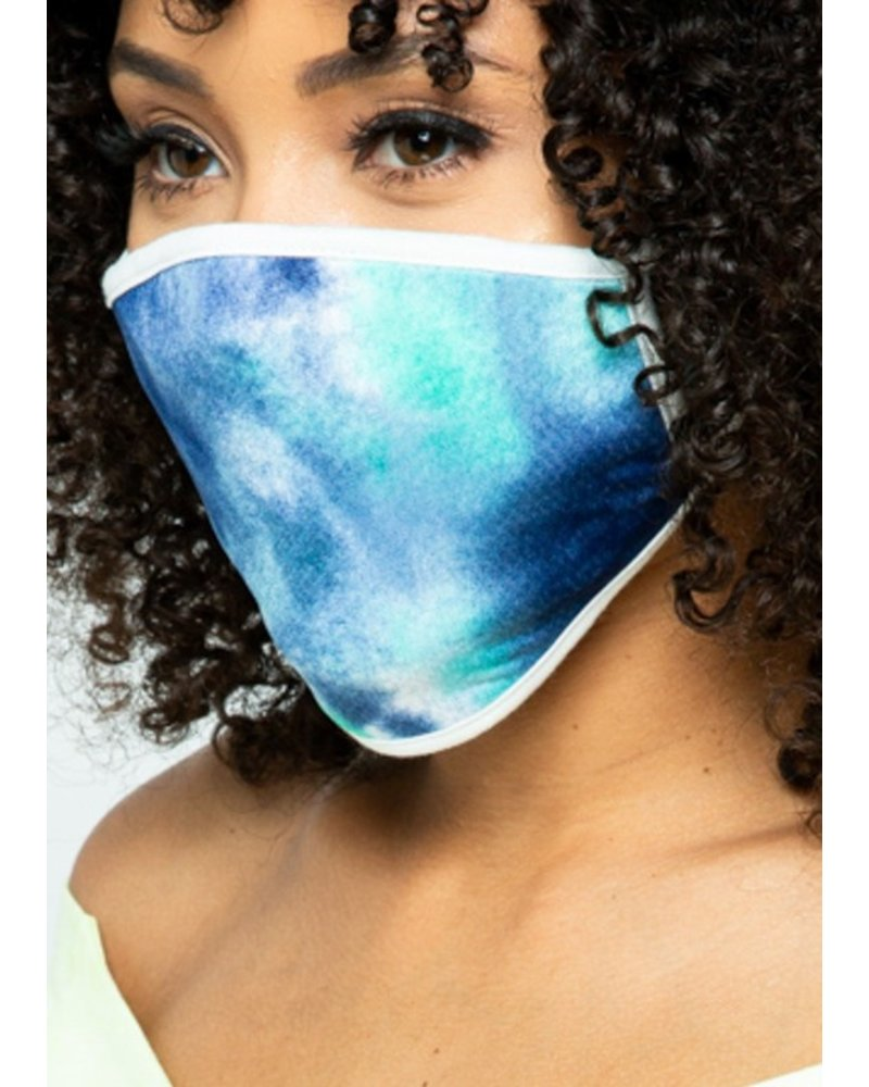 Mint + Major Blue Tie Dye Face Mask