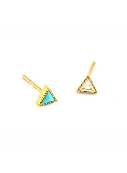 Tai Jewelry Mini Mixed Triangle Stud Earrings