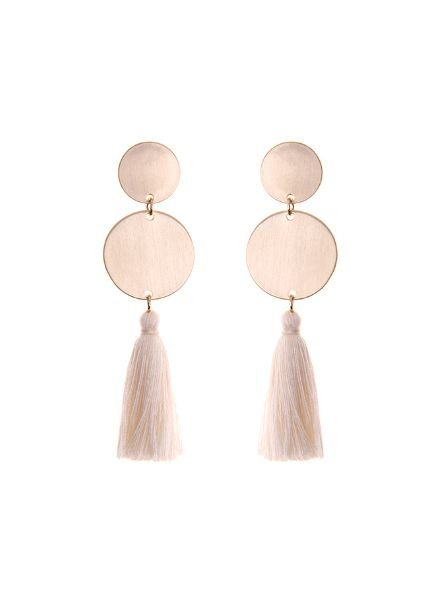 Mint + Major Geometric Tassel Earrings