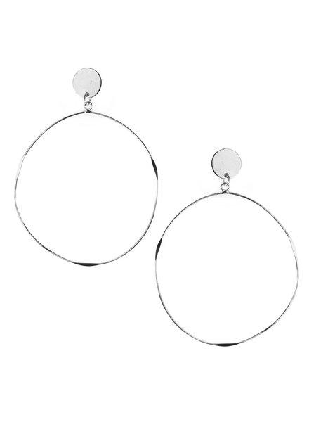 Mint + Major Post Hoop Earrings
