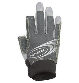 Ronstan Sticky Race Glove 3 Finger, Grey