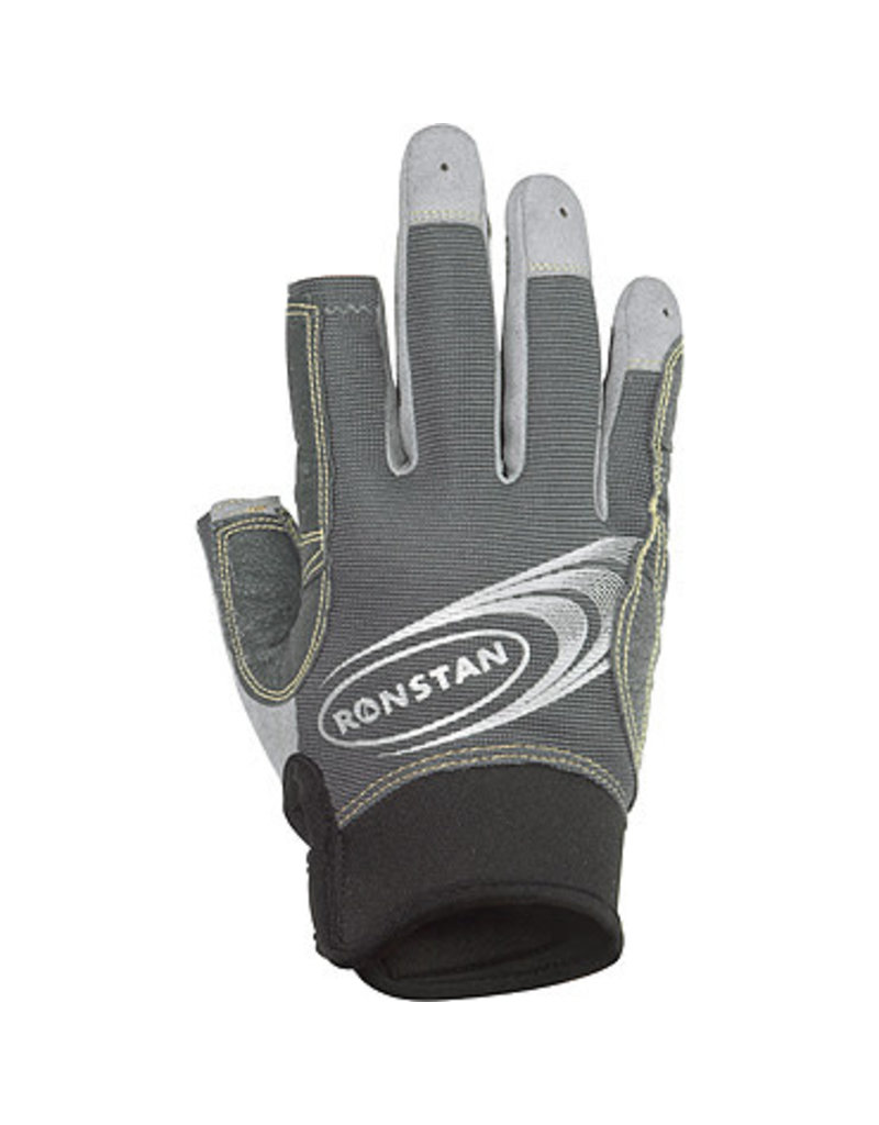 Ronstan Sticky Race Glove 3 Finger, Grey
