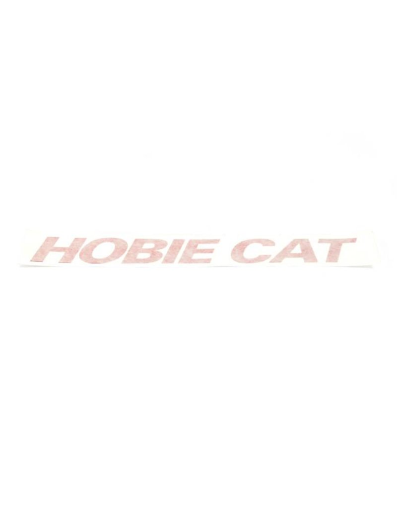 """Hobie DECAL """"HOBIE CAT"""" RED"""