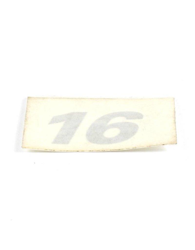 """Hobie DECAL """"16"""" SLVR"""