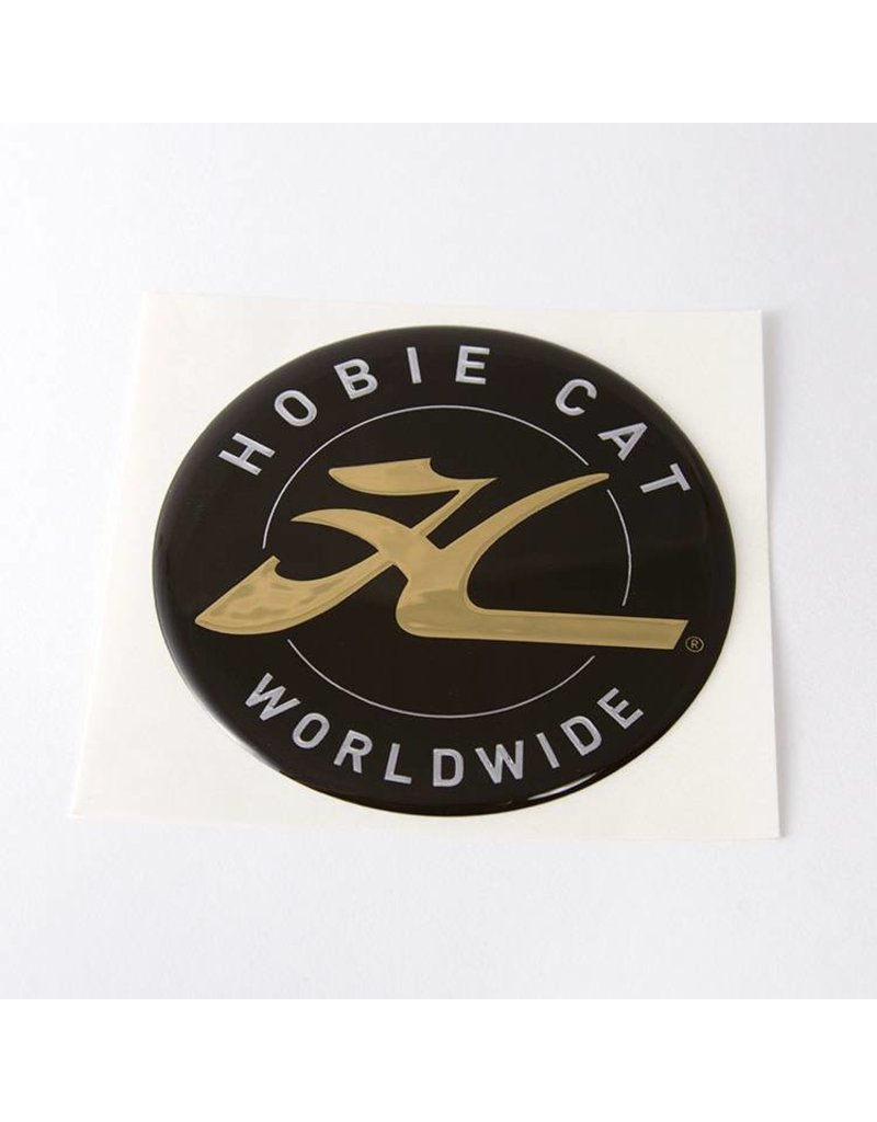 Hobie DECAL, HOBIE DOME, GOLD 2.75""
