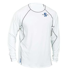 ScubaPro Ice Rash Guard Mens, C-Flow, Long Sleeve (UPF50)- White