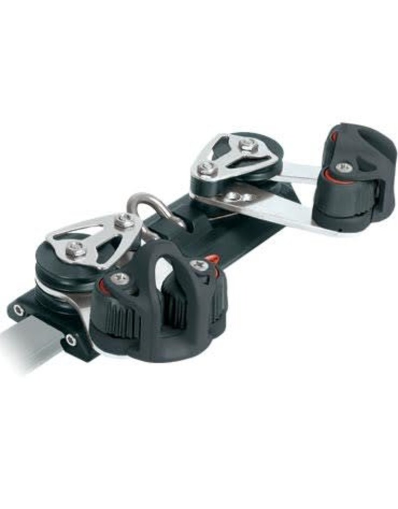 Ronstan Series 22 Traveller Car, 180mm, 4 Control Sheaves, 2 Cleats