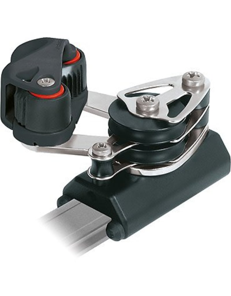 Ronstan Series 26 Control End, Double Sheave & Becket, Cleat