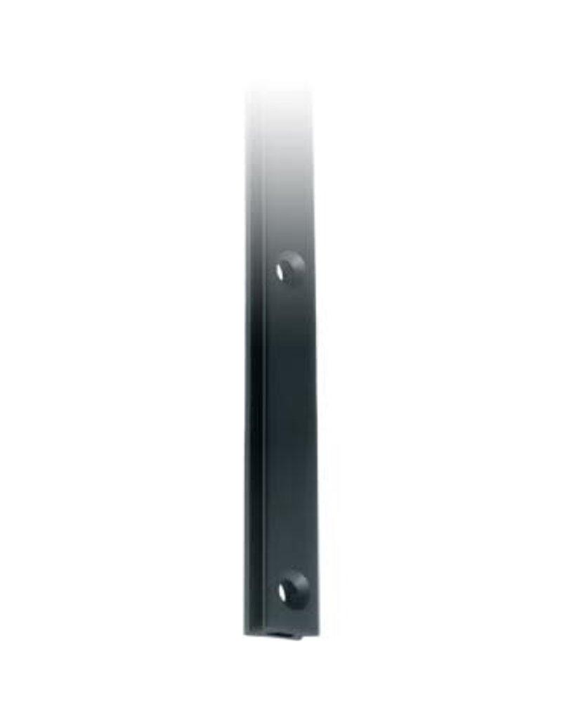 Ronstan Series 22 Mast Track, Black, 2025mm M6 CSK fastener holes. Pitch=100mm Fastening slugs=21