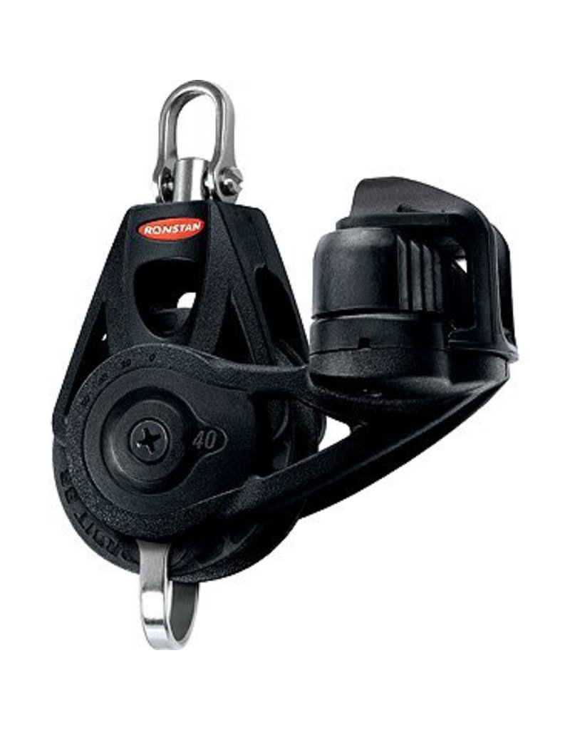 Ronstan Series 40 BB Orbit Block, Single,Bkt,Cleat,SwivelHead
