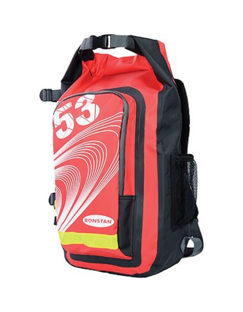 Ronstan Dry Roll-Top 26L Backpack, PVC, Red & Black