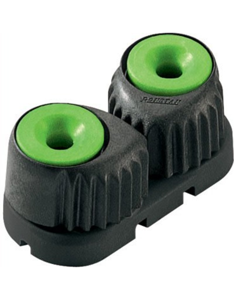 Ronstan Small 'C-Cleat' Cam Cleat Green, Black Base