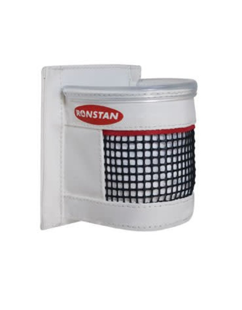 Ronstan Drink holder. White PVC with Mesh