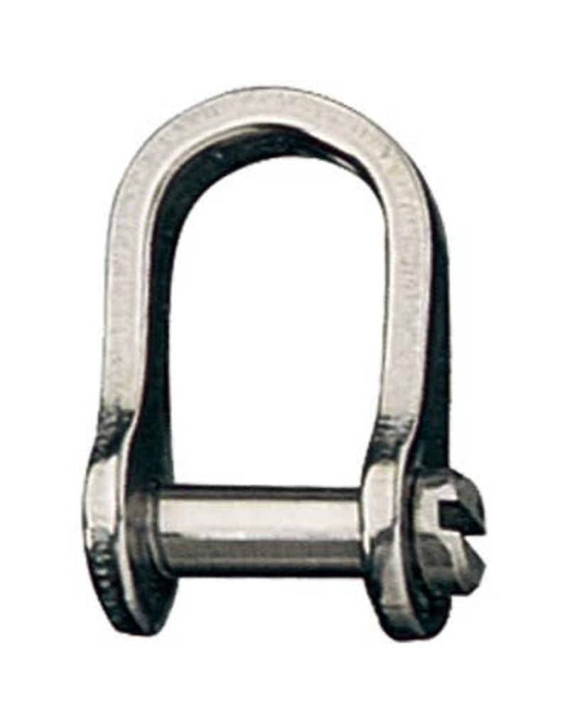 """Ronstan Shackle, Standard Dee, Slotted Pin 1/4"""", L:22mm, W:14mm"""