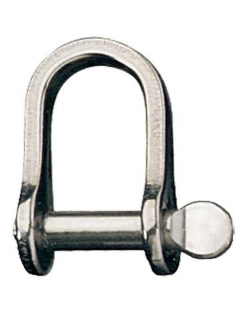 "Ronstan Shackle, Standard Dee, Pin 1/4"", L:22mm, W:14mm"