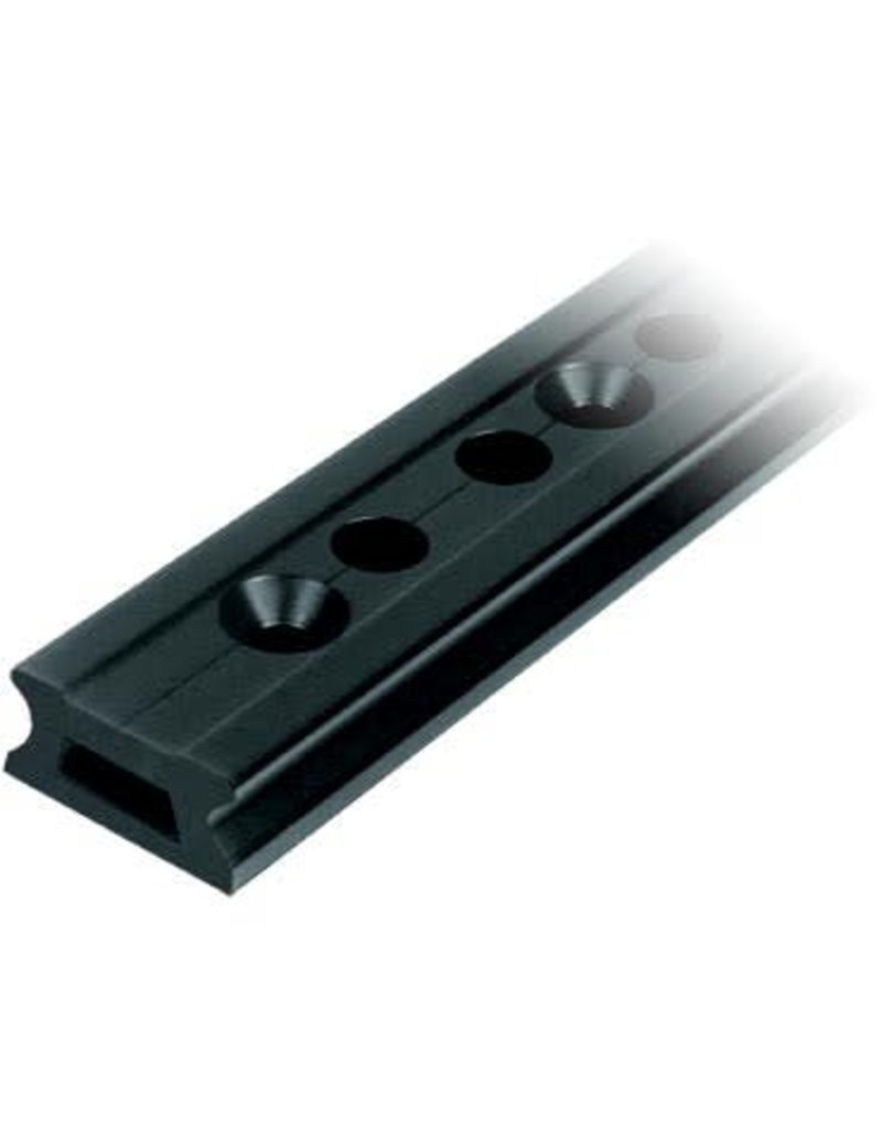 Ronstan Series 55 Track, Black, 996 mm M12 CSK fastener holes. Pitch=100mm Stop hole pitch=50mm