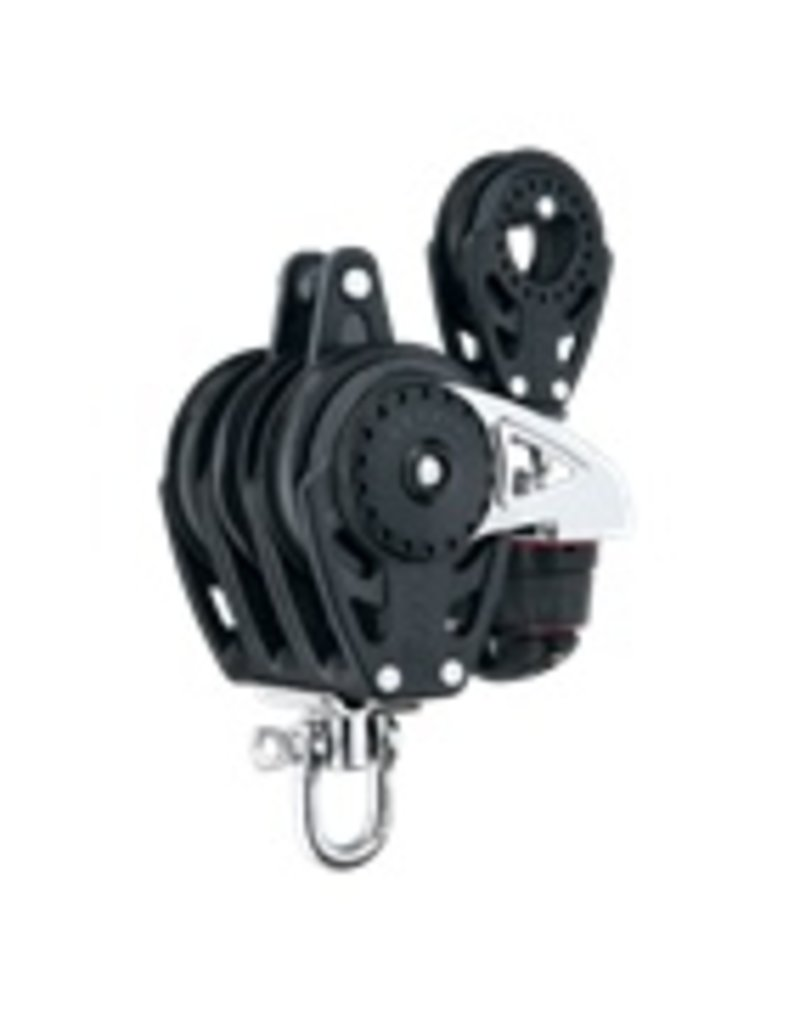 Harken 75mm Triple Carbo Ratchamatic w/Cam, Becket & 57mm Blk